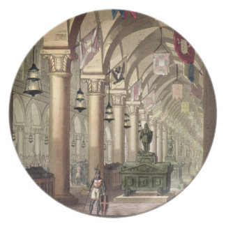 Tombs of the Knights Templar, c.1820-39 (aquatint) Dinner Plates