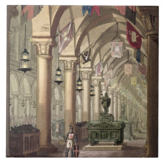 Tombs of the Knights Templar, c.1820-39 (aquatint) Tile