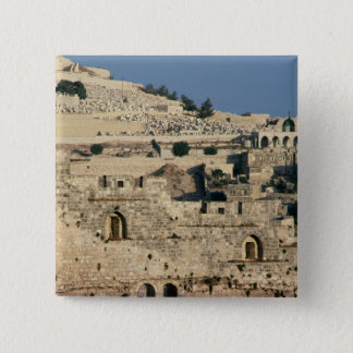 Tombs on the side of the Mount of Olives 15 Cm Square Badge