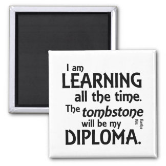 Tombstone Diploma Square Magnet