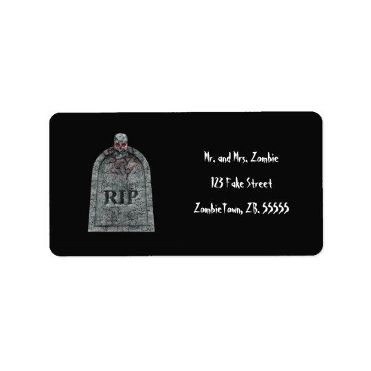 Tombstone - Halloween Labels