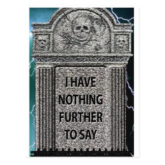 Tombstone Humor Postcards