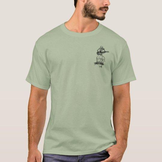 tombstone skeleton stone green T-Shirt