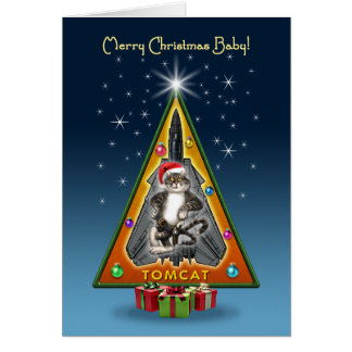 Tomcat Christmas Tree Card