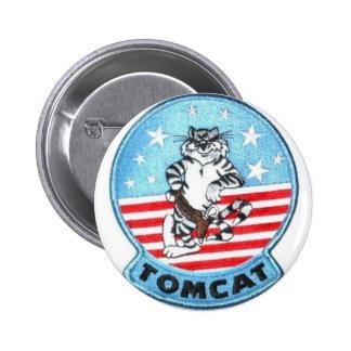 TOMCAT F-14 -- THE FINEST THAT EVER FLEW 6 CM ROUND BADGE