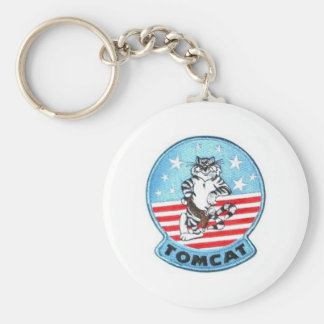 TOMCAT F-14 -- THE FINEST THAT EVER FLEW BASIC ROUND BUTTON KEY RING