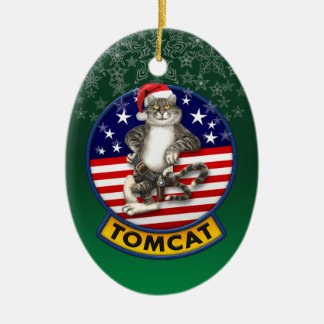 Tomcat Mascot Christmas Christmas Ornament