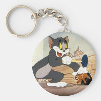 Tome And Jerry Plunger Basic Round Button Key Ring