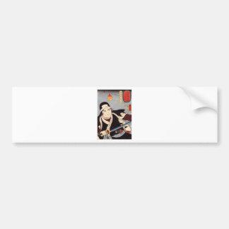 Tominomori by Utagawa Kuniyoshi Bumper Sticker