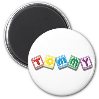 Tommy 6 Cm Round Magnet