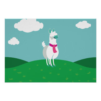 Tommy the Llama Poster