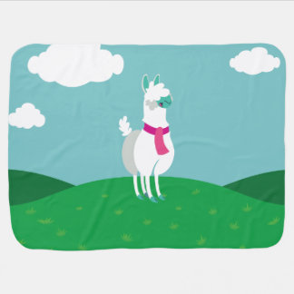 Tommy the Llama Receiving Blankets