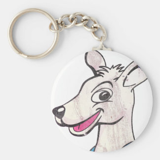 Tommy The Terrible Kangaroo Picture Basic Round Button Key Ring