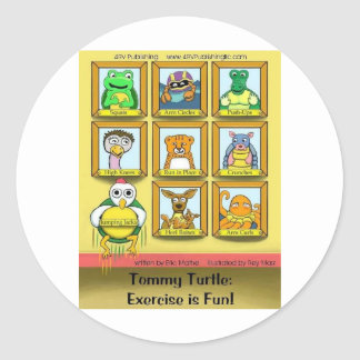 Tommy Turtle: Exercise is Fun!  Back cover Stickers