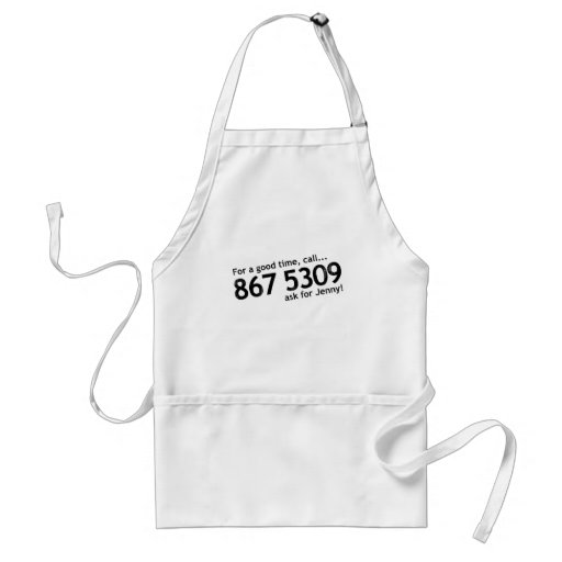 Tommy Tutone 867 5309 Aprons