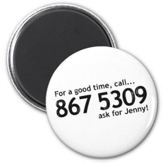 Tommy Tutone 867 5309 Refrigerator Magnet