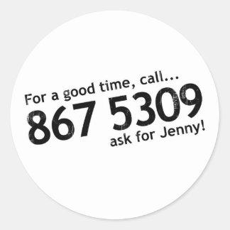 Tommy Tutone 867 5309 Sticker
