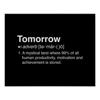 Tomorrow Definition Poster
