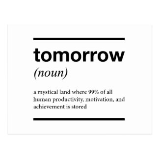 Tomorrow Inspirational Design Postcard