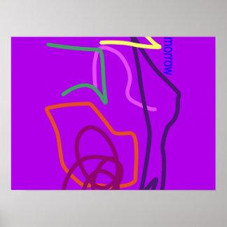 Tomorrow Purple Poster