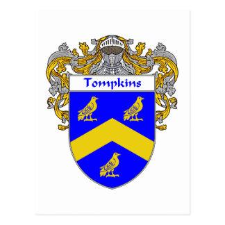 Tompkins Coat of Arms (Mantled) Postcard