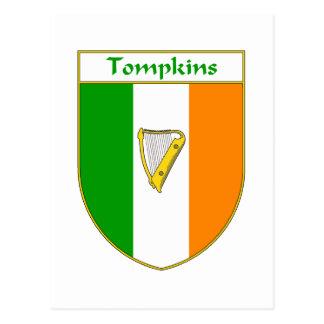 Tompkins Harp Irish Flag Shield Postcard
