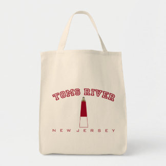 Toms River - Barnegat Lighthouse Grocery Tote Bag