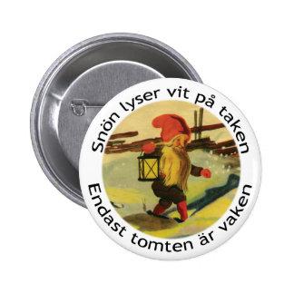 Tomten button with Viktor Rydberg poem