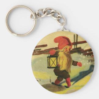 Tomten kechain basic round button key ring