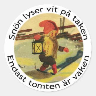 Tomten stickers with Viktor Rydberg poem