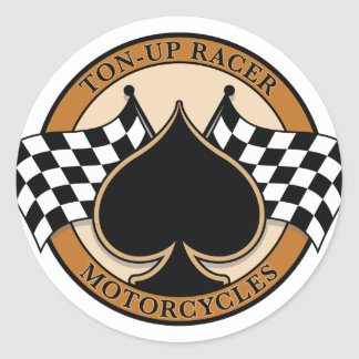 Ton-up Racer Round Sticker