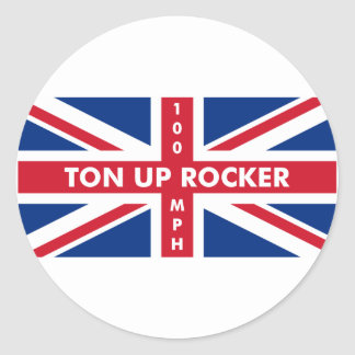 Ton Up Rocker Round Sticker