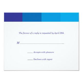 Tonal Blue Bar Mitzvah Reply 11 Cm X 14 Cm Invitation Card