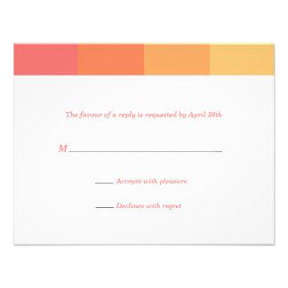 Tonal Citrus Bat Mitzvah Reply Card Custom Invitation