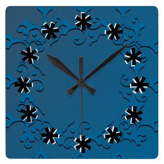 Tonal Elegance Blue Wall Clock