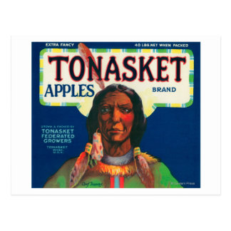 Tonasket Apple Label - Tonasket, WA Postcard
