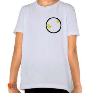 Tone-on-Tone Flower Products in Black and Yellow Tee Shirts