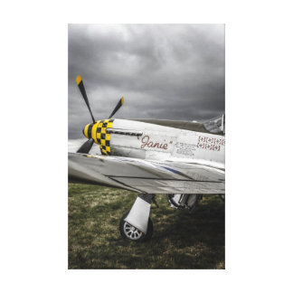 Toned WWII N. American P51 Mustang Fighter plane Canvas Print