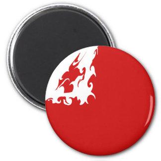 Tonga Gnarly Flag 6 Cm Round Magnet