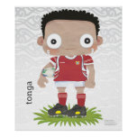 Tonga Huge Rugby Poster