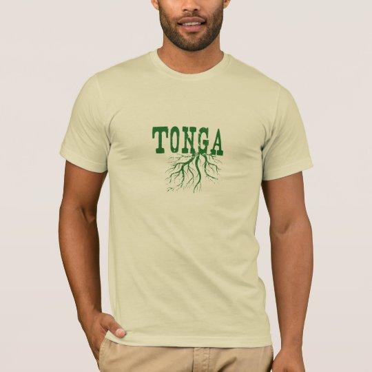 Tonga Roots Green Word Art T-Shirt