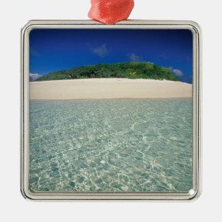 Tonga, Vava'u, Landscape 2 Silver-Colored Square Decoration