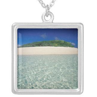 Tonga, Vava'u, Landscape 2 Square Pendant Necklace