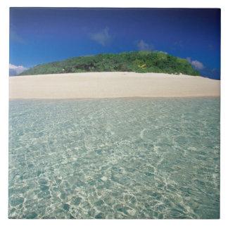 Tonga, Vava'u, Landscape 2 Large Square Tile