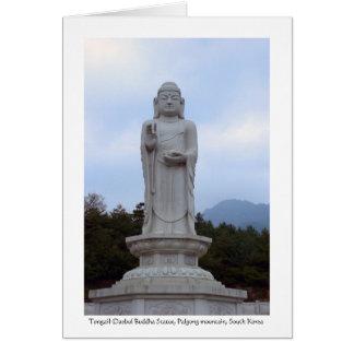 Tongail-Daebul stone Buddha Statue, South Korea Greeting Card