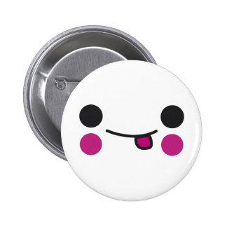 Tongue Face Pinback Button