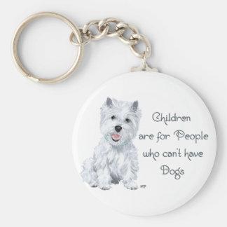 Tongue in Cheek Westie Wisdom - Children . . . Key Chain