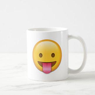 Tongue-Out Cheeky Emoji Basic White Mug
