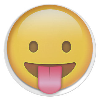 Tongue-Out Cheeky Emoji Plates