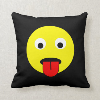 Tongue smiley cushion